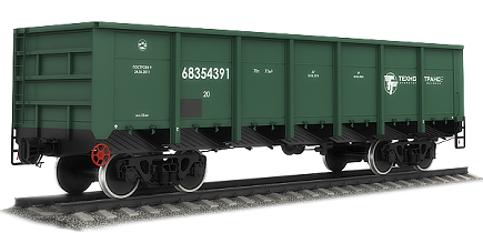 Types and description of the railway wagons